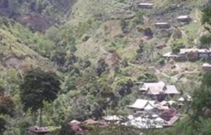 Pemukiman Penduduk Terpusat di Daerah Pegunungan